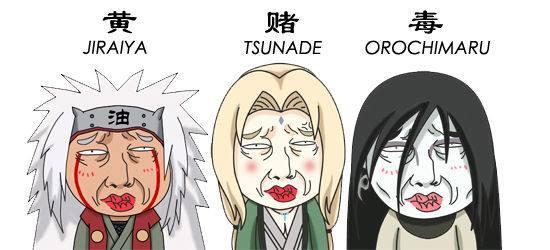 木叶传说中的三忍 火影忍者黄赌毒的代言人