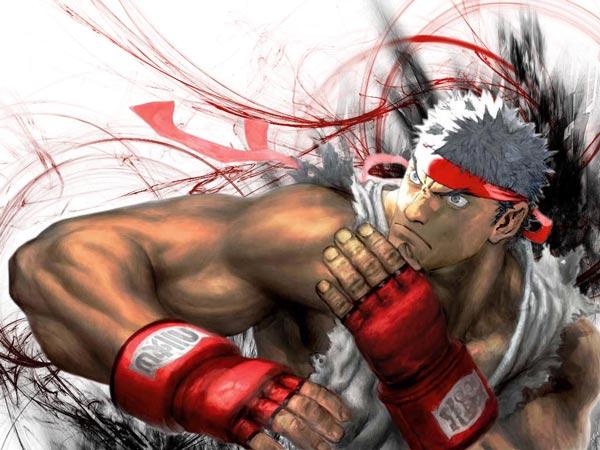 街头霸王龙霸气图片 街霸Ryu动漫图片