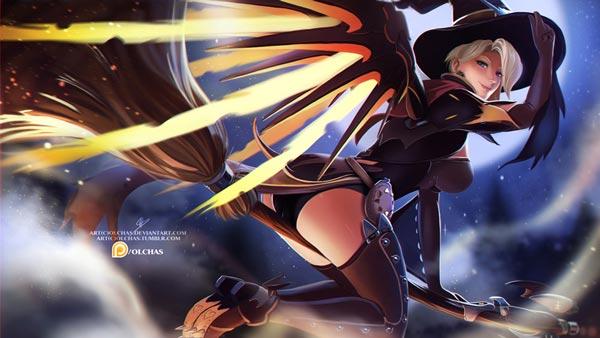守望先锋天使女巫游戏图片 窈窕女巫天使本子图片