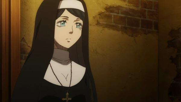黑色五叶草温柔的修女莉莉动漫图片