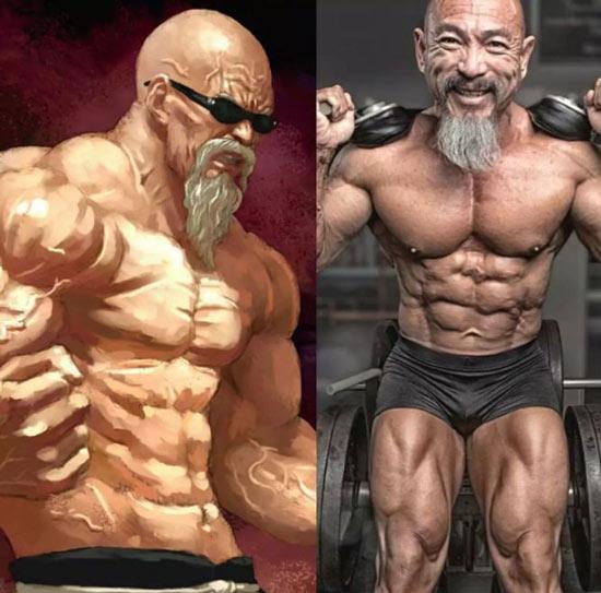 老头疯狂痴迷龟仙人 每天吃一盆鸡蛋和魔鬼式健身