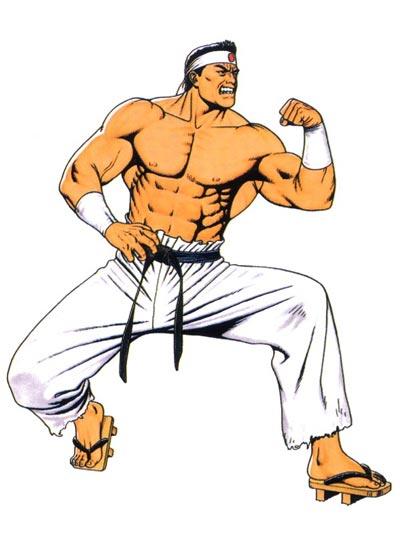 拳皇肌肉硬汉大门五郎全身图片