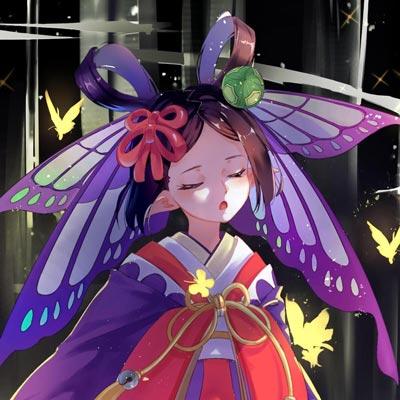 游戏阴阳师蝴蝶精呆萌少女头像图片