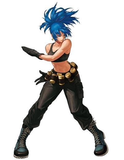 拳皇格斗女军人蕾欧娜全身图片