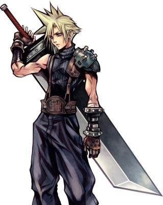最终幻想VII克劳德最初游戏形象图片