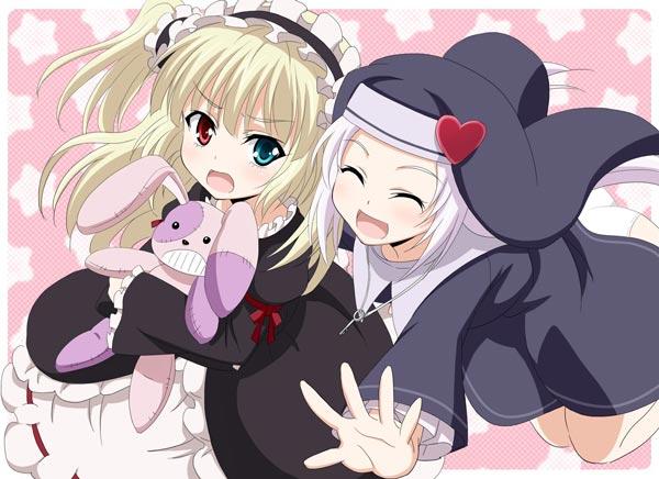 萝莉姐妹高山玛丽亚和羽濑川小鸠动漫图片(8P)